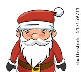 cute santa claus character | Shutterstock .eps vector #517159711