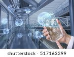 transparent futuristic smart... | Shutterstock . vector #517163299