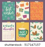 vector collection of christmas... | Shutterstock .eps vector #517167157
