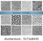 set of twelve hand drawn ink... | Shutterstock .eps vector #517168435