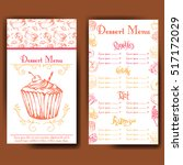 design for sweets shop.... | Shutterstock .eps vector #517172029