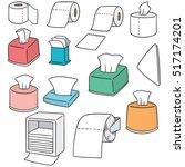 vector set of tissue paper | Shutterstock .eps vector #517174201
