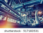 equipment  cables and piping as ... | Shutterstock . vector #517183531