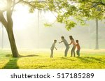 asian family walking outdoor in ... | Shutterstock . vector #517185289