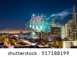 celebration new year firework... | Shutterstock . vector #517188199