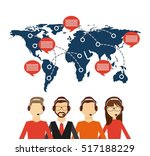 customer service workers with... | Shutterstock .eps vector #517188229
