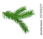 green spruce branch. fir... | Shutterstock .eps vector #517192177