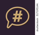 the hashtag icon. social... | Shutterstock . vector #517195144