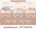 food court in a shopping mall... | Shutterstock .eps vector #517196101