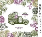 farm fresh delivery design... | Shutterstock .eps vector #517200139
