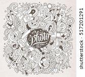 cartoon cute doodles hand drawn ... | Shutterstock .eps vector #517201291