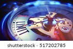 limit. on watch face with close ... | Shutterstock . vector #517202785