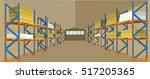 warehouse hangar building...   Shutterstock .eps vector #517205365
