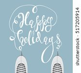 """ice skates and lettering """"happy ... 