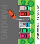 city parking vector web banner. ... | Shutterstock .eps vector #517209424