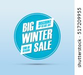 big winter sale. special offer... | Shutterstock .eps vector #517209955