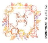 thanksgiving typography.thanks... | Shutterstock .eps vector #517211761
