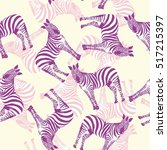 zebra animal pattern   a vector ... | Shutterstock .eps vector #517215397