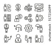 business management icons | Shutterstock .eps vector #517216099