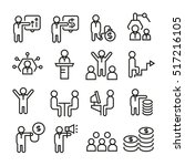 business management icons | Shutterstock .eps vector #517216105