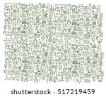 green pattern for camping ... | Shutterstock .eps vector #517219459