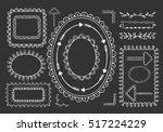 set of hand drawn frames ... | Shutterstock .eps vector #517224229