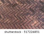 Red Patterned Paving Tiles ...