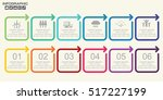 template timeline infographic... | Shutterstock .eps vector #517227199