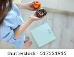 close up view of woman making... | Shutterstock . vector #517231915