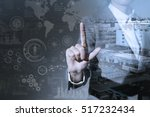 double exposure of a business... | Shutterstock . vector #517232434