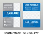 brochure template layout  cover ... | Shutterstock .eps vector #517233199