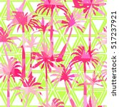 Palm Tree Pattern   Vector ...