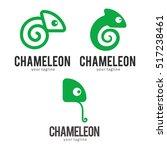 chameleon logo icon symbol...