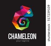 chameleon polygonal pop art...