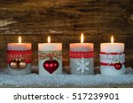 advent lights christmas candles ...   Shutterstock . vector #517239901