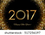 vector   2017 happy new year... | Shutterstock .eps vector #517256197