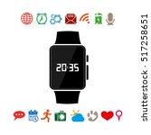 wrist watch icon vector...   Shutterstock .eps vector #517258651