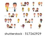 stressed people with asap... | Shutterstock .eps vector #517262929
