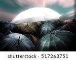 umbrella lights glowing... | Shutterstock . vector #517263751