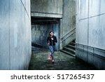 motivated sporty woman running...   Shutterstock . vector #517265437