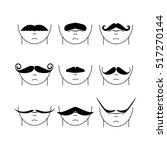 big set of vector hipster... | Shutterstock .eps vector #517270144