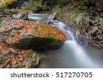 flowing water   river cascade... | Shutterstock . vector #517270705