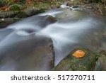 flowing water   river cascade... | Shutterstock . vector #517270711