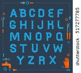 water pipe industrial font with ...