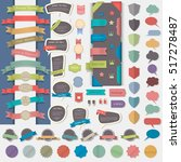 big set of web design elements  ... | Shutterstock .eps vector #517278487