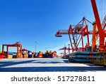 ship and crane | Shutterstock . vector #517278811