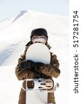 snowboarder and snowboard ...   Shutterstock . vector #517281754