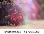 vintage valentine background... | Shutterstock . vector #517283659