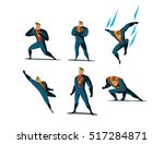 vector illustration set of... | Shutterstock .eps vector #517284871