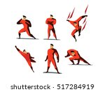 vector illustration set of... | Shutterstock .eps vector #517284919